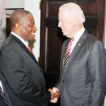 PIC.4. PRESIDENT JONATHAN MEETS WITH U.S. VICE PRESIDENT JOE BIDEN IN WASHINGTON D.C