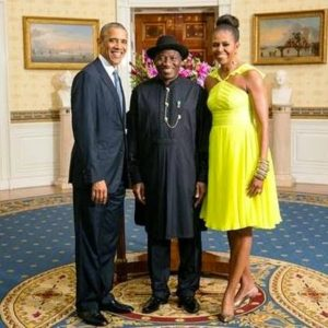 President Jonathan with the Obamas - August 2014 - BellaNaija.com 01