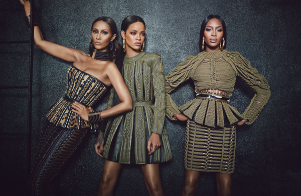 Rihanna, Iman and Naomi Campbell in Balmain for W Magazine - BellaNaija - August2014004