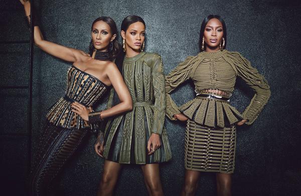 Rihanna, Iman and Naomi Campbell in Balmain for W Magazine - BellaNaija - August2014004