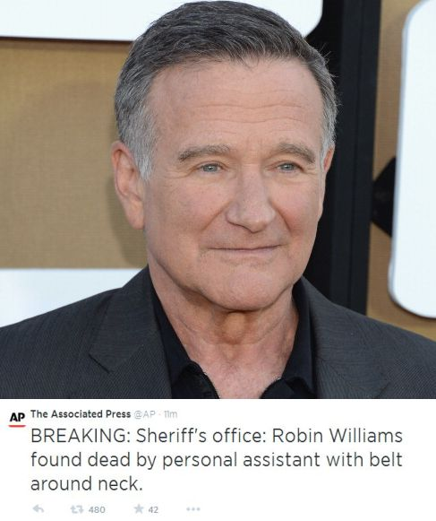 Sheriff officials confirmed today tuesday that robin williams