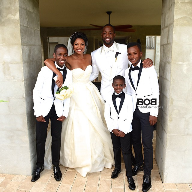 gabrielle union & dwyane wade are married! first pics from, Wedding invitations