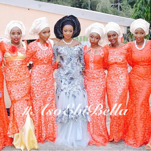 Zainab & her friends. Pic via @theweddingguruu.aso ebi bella, asoebi,