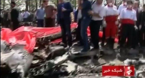 iranian plane crashes