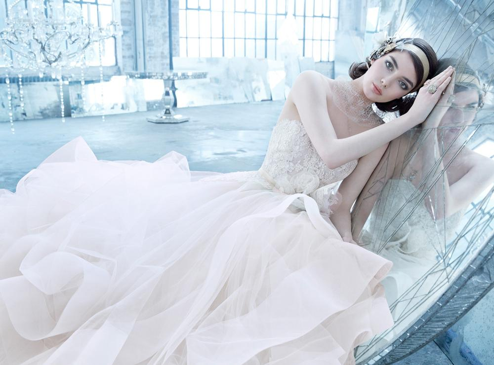 Tulle Ball Gown Wedding Dress: Spring 2014 Ad Campaign & Lookbook
