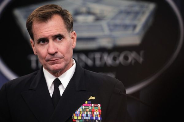 Pentagon Press Secretary Rear Admiral John Kirby Holds Press Briefing