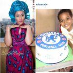 Aduuni Ade sons birthday chelsea cake