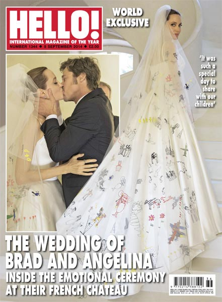 Angelina Jolie Brad Pitt Wedding Hello Magazine BellaNaija