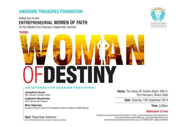 Awesome Treasures Foundation Woman of Destiny - Bellanaija - September 2014