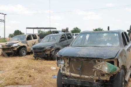 Boko Haram Vehicles destroyed BellaNaija