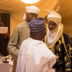 Chief Philip Asiodu exchanging pleasantries with the Emir of Kano