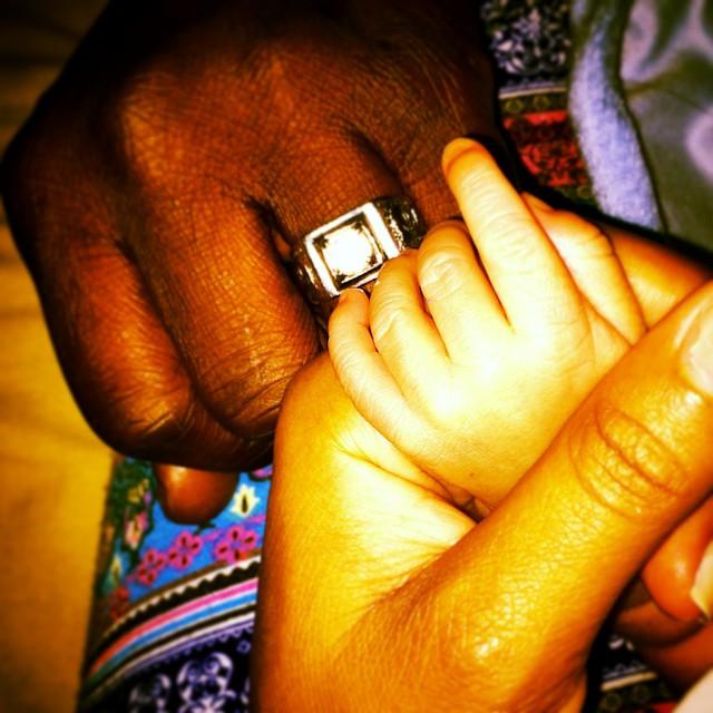 Damilola Adegbite Chris Attoh Baby