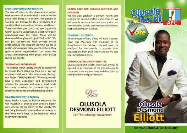 Desmond Elliot APC Lagos State