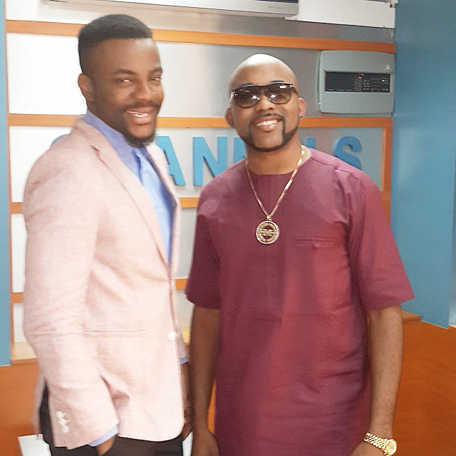 Ebuka and Banky W Rubbin Minds BellaNaija