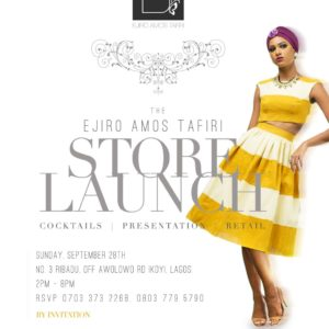 Ejiro Amos Tafiri Store Launch - Bellanaija - September 2014