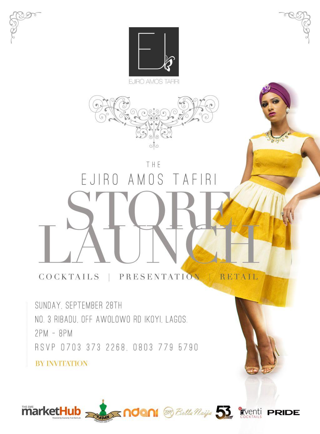 Ejiro Amos Tafiri Store Launch - Bellanaija - September 2014