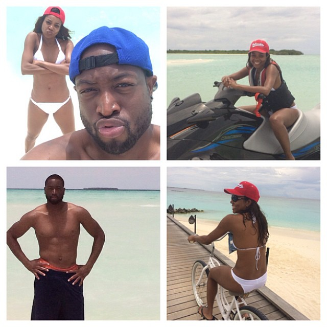 Gabrielle Union & Dwyane Wade's Sweet Honeymoon BN 7