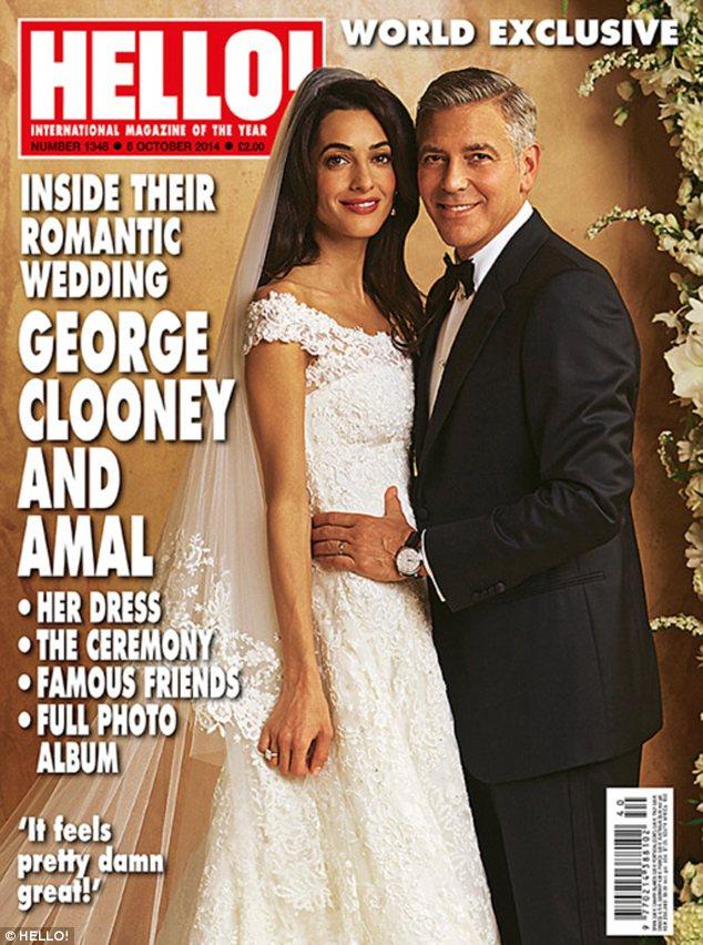 Hello Magazine Amal Alamuddin George Clooney