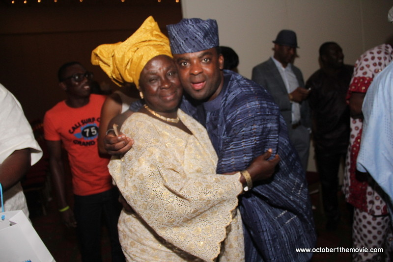 Kunle Afolayan and Mum