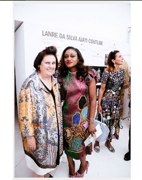 Suzy menkes of Vogue & Lanre Da Silva-Ajayi