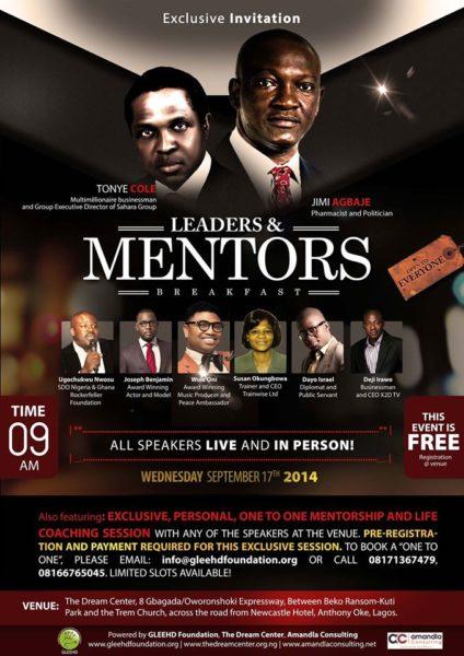Mentors Breakfast Flyer