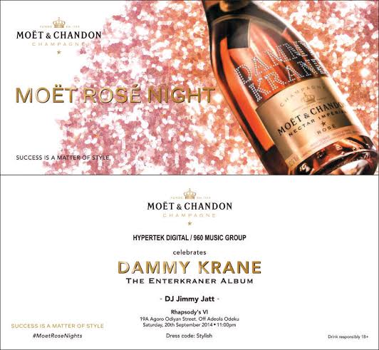 Moet Rose Night with Dammy Krance - Bellanaija - September 2014