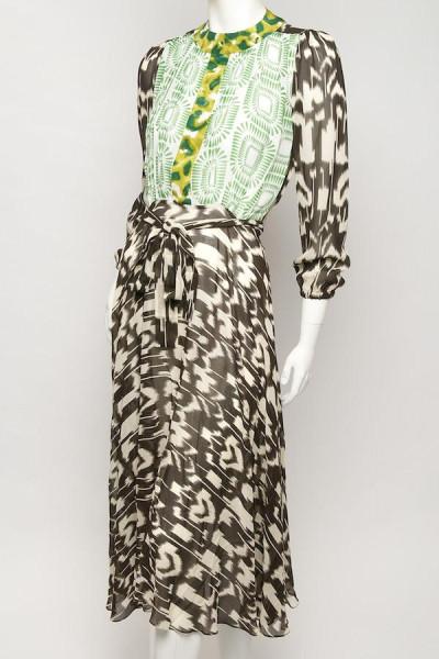 Multicoloured Ikat dress by Duro Olowu - Bellanaija - September 2014