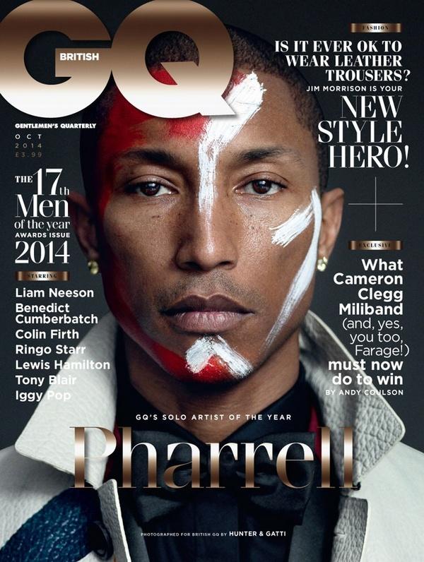 Pharrell Williams for British GQ - bellanaija - September 2014