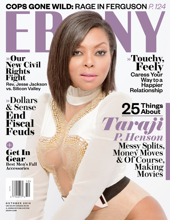 Taraji P Henson for EBONY Magazine October 2014 Issue - Bellanaija - September 2014