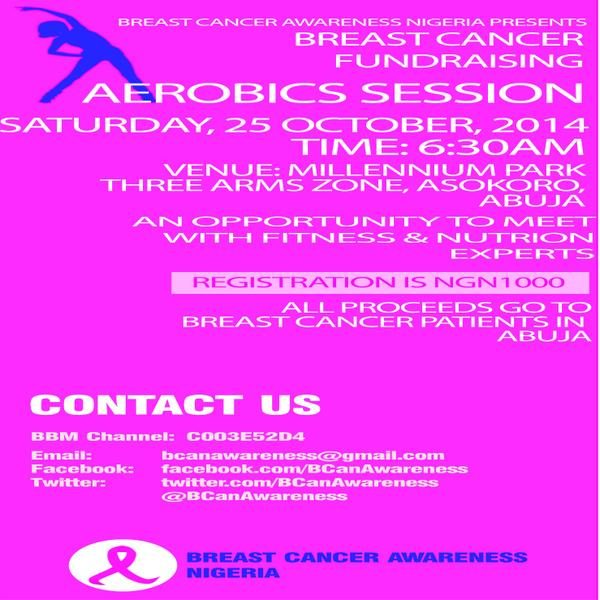 Aerobics-cancer-fundraiser-Abuja-October-2014