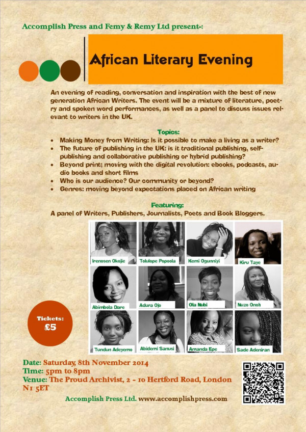 African Literary Evening - Bellanaija - October2014
