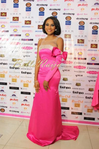 BN Best Dressed Genevieve Pink Ball 2014 October2014-BellaNaija014