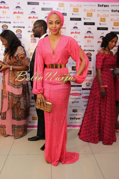 BN Best Dressed Genevieve Pink Ball 2014 October2014-BellaNaija016
