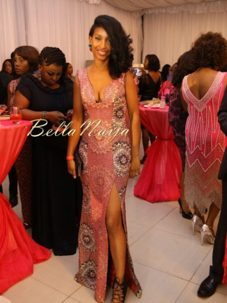 BN Best Dressed Genevieve Pink Ball 2014 October2014-BellaNaija029