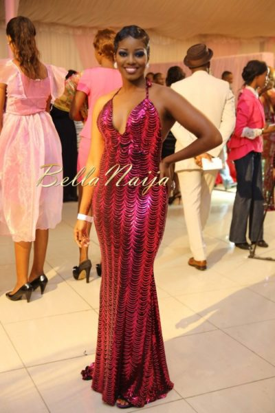 BN Best Dressed Genevieve Pink Ball 2014 October2014-BellaNaija030