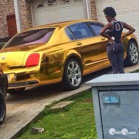 Latest Naija Celeb Trend Chrome Plated Cars Lynxxx Don Jazzy