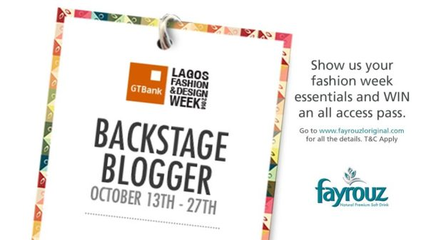 Fayrouz Back Stage Blogger LFDW 2014 Competition - Bellanaija - October 2014