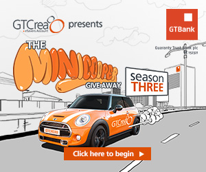GTBank Mini Cooper Ad on BN