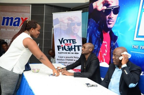 Ikeja City Mall TuFace Autograph Session for Vote not Fight Campaign - Bellanaija - October2014035