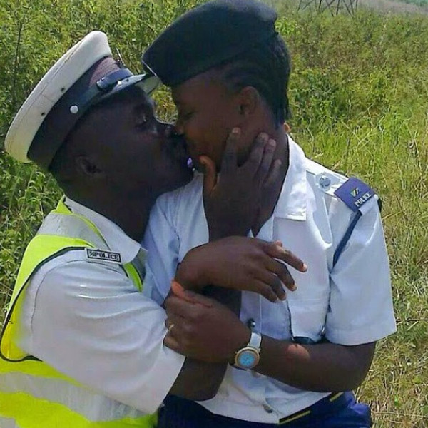 Cop Photo Goes Viral: 3 Tanzanian Police Officers Fired After Kissing Photo Goes