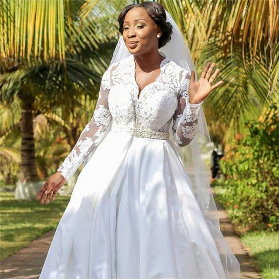 Naa Ashorkor White Wedding | BellaNaija 01