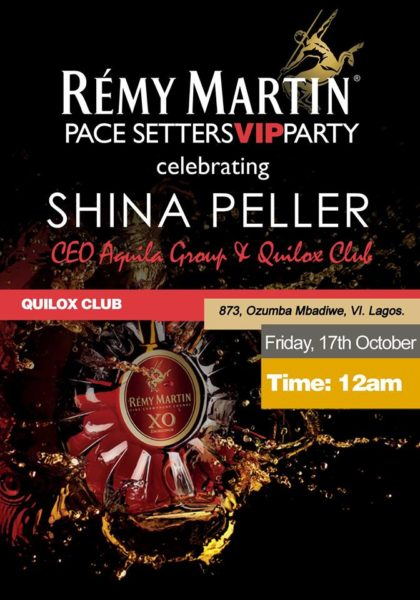 Remy Martin Pace Setters VIP Party for Shina peller - Bellanaija - October 2014001