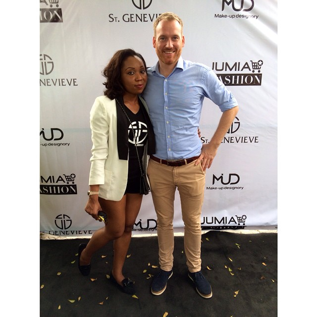 Chinny Onwugbenu & Jumia's Managing Director for Marketing, Jonathan Doerr