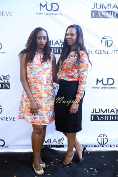 Veronica Odeka ( Wearing St Genevieve ALCHIBA Short Print Dress) & Vanessa Amadi-Ogbonna (Wearing St. Genevieve Capella Long Sleeve Shirt with EDASI Skirt)
