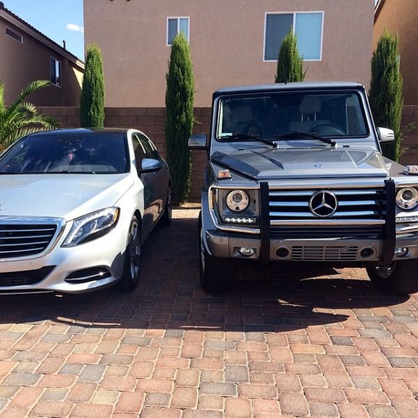 thanks daddy for my new G550 to go along with my s550 , i appreciate it ! #loveyou #blessed #mercedes #TMT
