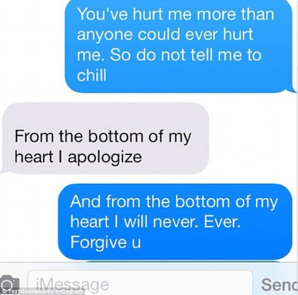 Buzzcanada Hilarious Messages Sent By Ex Lovers To Their
