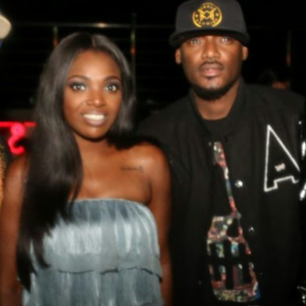 Annie & 2Face at her Birthday Party in November 2014