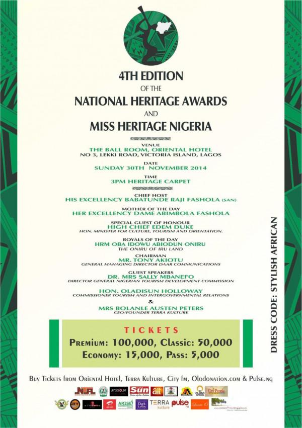 4th National Heritage Awards & Miss Heritage Nigeria - BellaNaija - November 2014