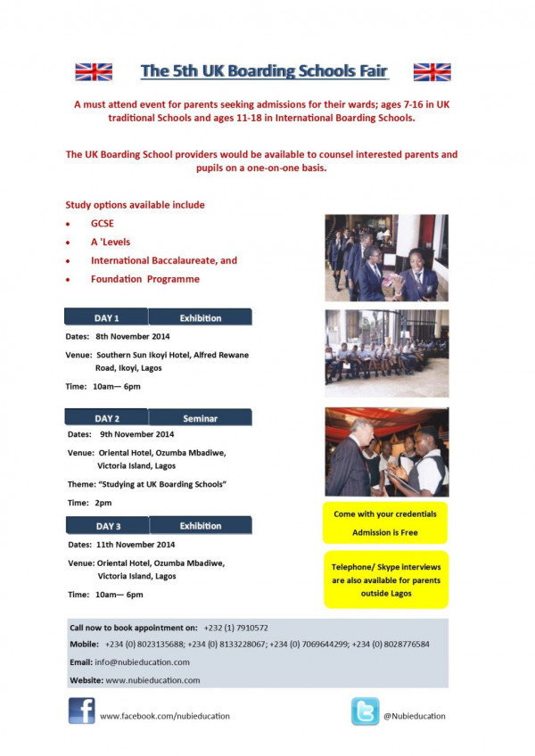 5th UK Boarding Schools Fair - Bellanaija - November 2014