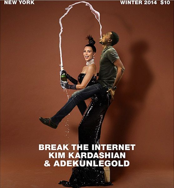 Adekunle Gold Kim Kardashian Paper Magazine - Bellanaija - November 2014